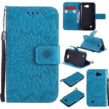 Guran® Funda de Cuero Para LG K4 Smartphone Función de Soporte con ...