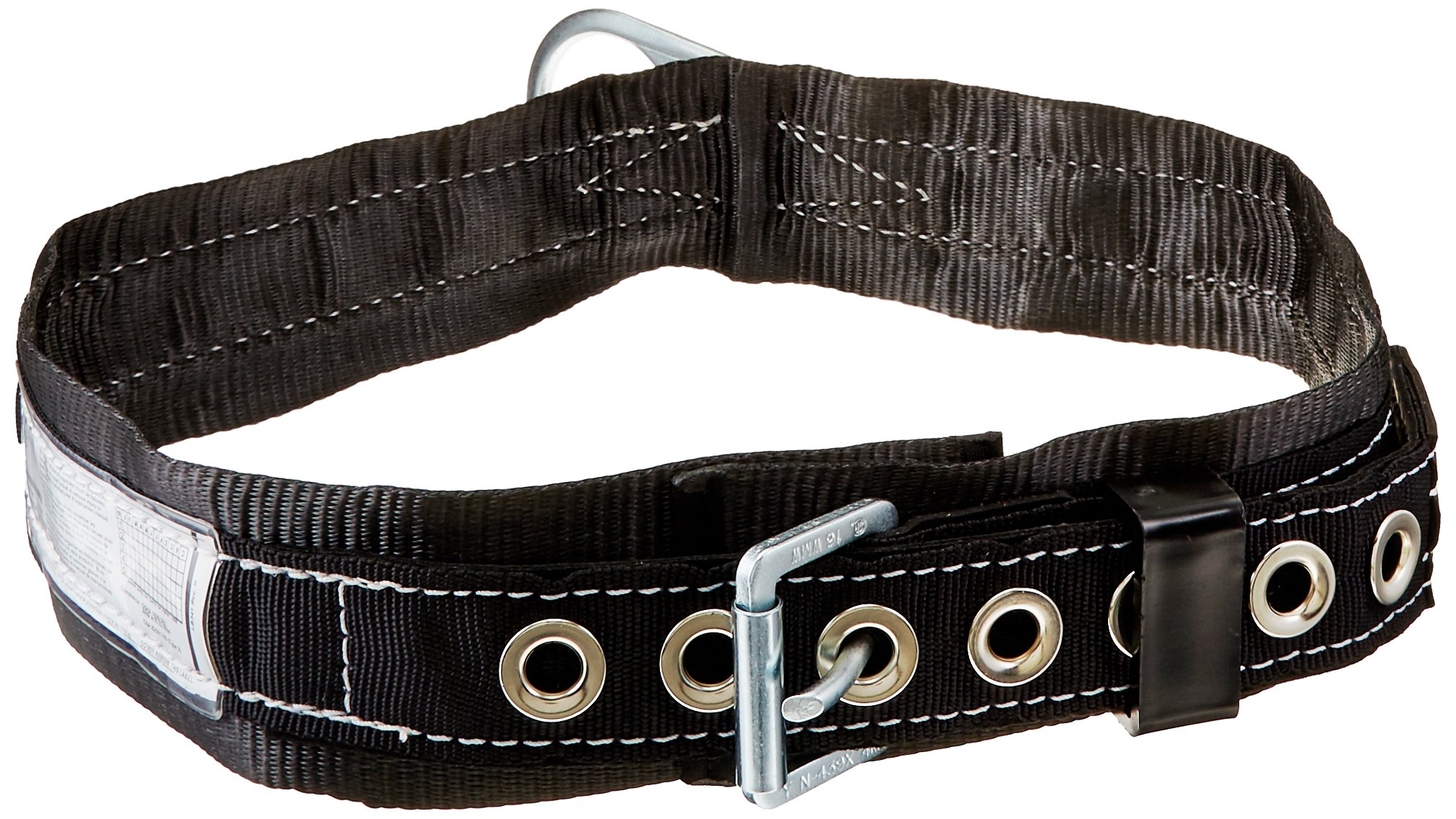 Miller by Honeywell 3NA/XLBK Single D-Ring Safety Body Belt with 1-3/4-Inch Webbing and 3-Inch Back Pad, X-Large, Black