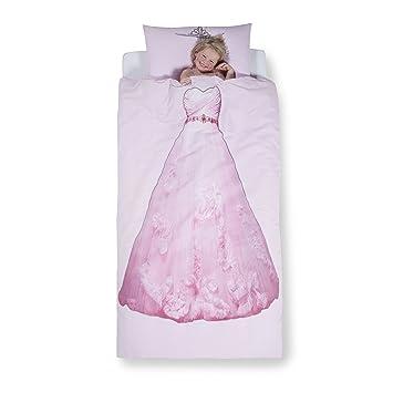 Aminata Kids Kinder Bettwäsche Set 135 X 200 Cm Prinzessin Motiv
