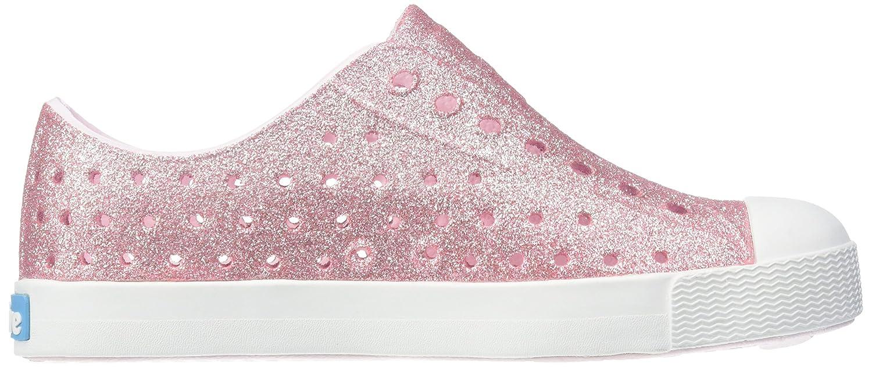 Milk Pink//Shell White 4 M US Toddler 13100112 Native Shoes Girls Jefferson Bling Flat