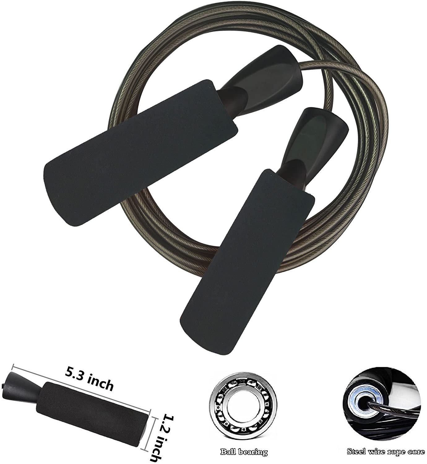 YZLSPORTS Professional Adjustable Steel Wire Jump Rope with Carrying Pouch by Fitness Factor Ergonomic, Durable, Easy to Adjust Premium Jump Rope All Heights : Sports & Outdoors
