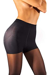 a5aeb21b072 sofsy High Waisted Slimming Tights For Women - Shaping Semi Sheer Pantyhose