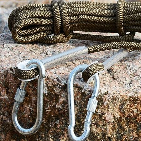 HELEISH Cuerda de escalada en roca de 10 m del ejército verde ...