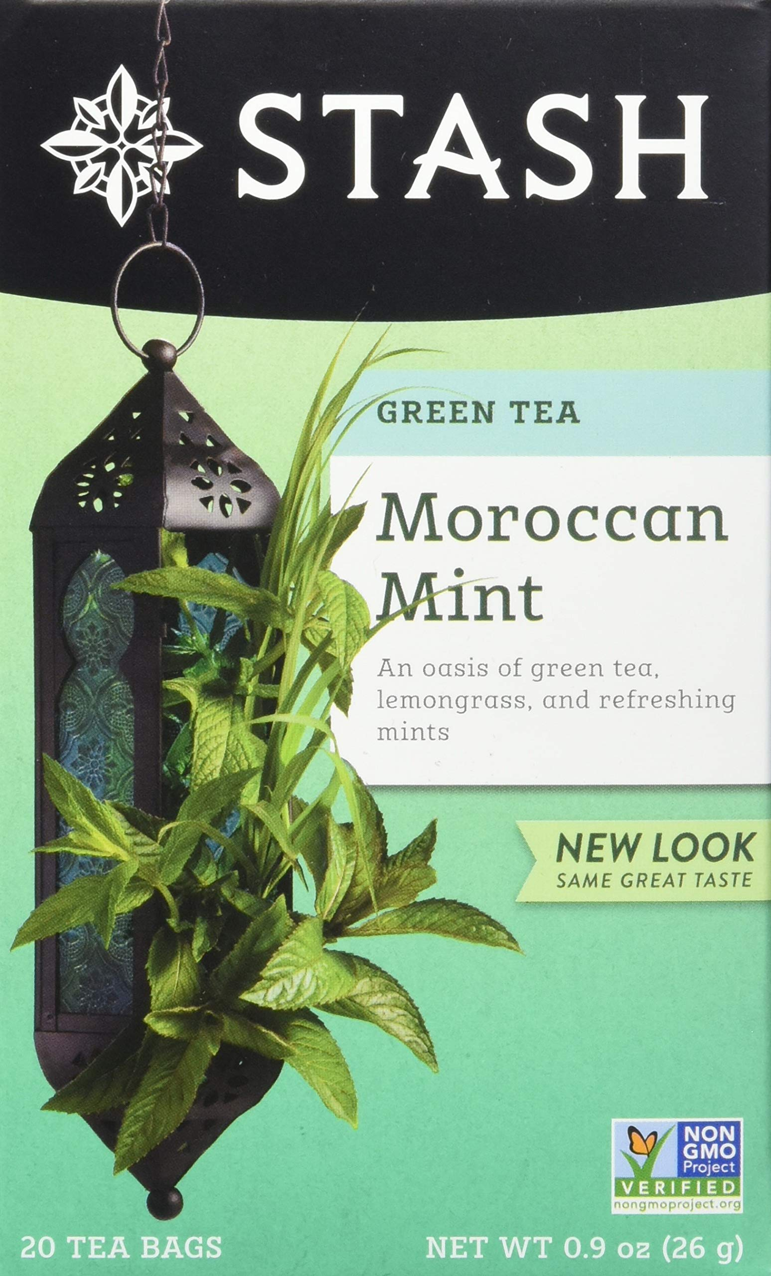 Stash Tea Moroccan Mint Green Tea 20 Count Box of Tea Bags in Foil (Pack of 6)