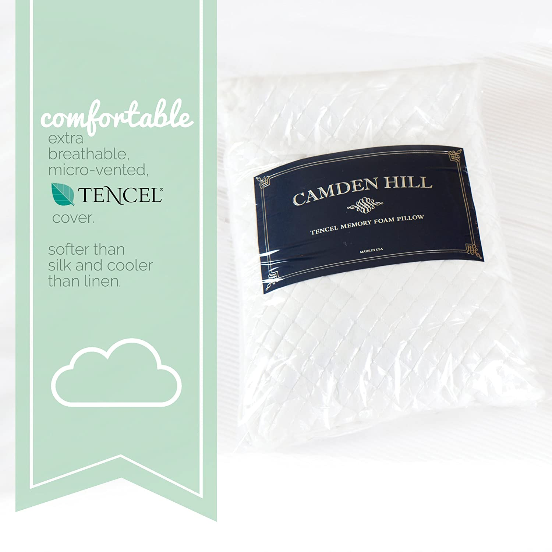 Uncategorized britannica home fashions tencel sheets - Amazon Com Camden Hill Memory Foam Tencel Pillow Queen Home Kitchen