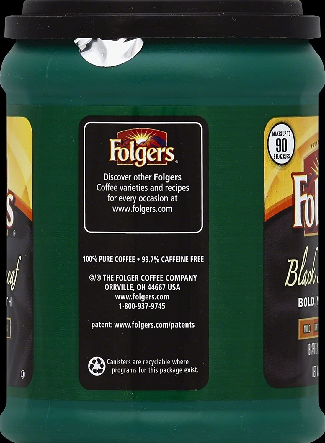 Folgers Black Silk Ground Coffee, 24.2 Ounces (Pack of 6)