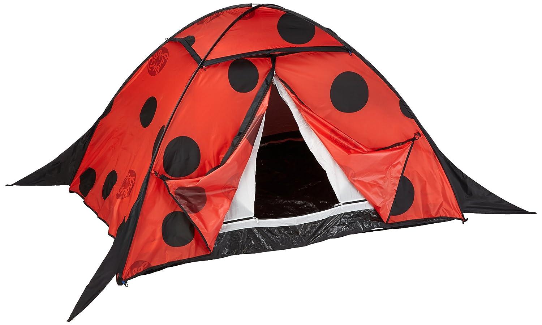 10T Camping-Zelt LadyBug 2 Pop-Up Wurfzelt mit Schlafkabine für 2 Personen Marienkäfer Automatik-Zelt mit Stauraum, eingenähter Bodenwanne, Dauerbelüftung, wasserdicht mit 5000mm Wassersäule