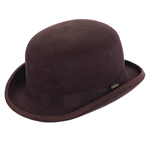 6edafd6b2ef SCALA CLASSICO SATIN LINED WOOL FELT LOW CROWN BOWLER GROSGRAIN BAND (EXTRA  LARGE