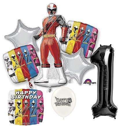 Amazon.com: Black Number 1st Birthday Power Rangers Ninja ...