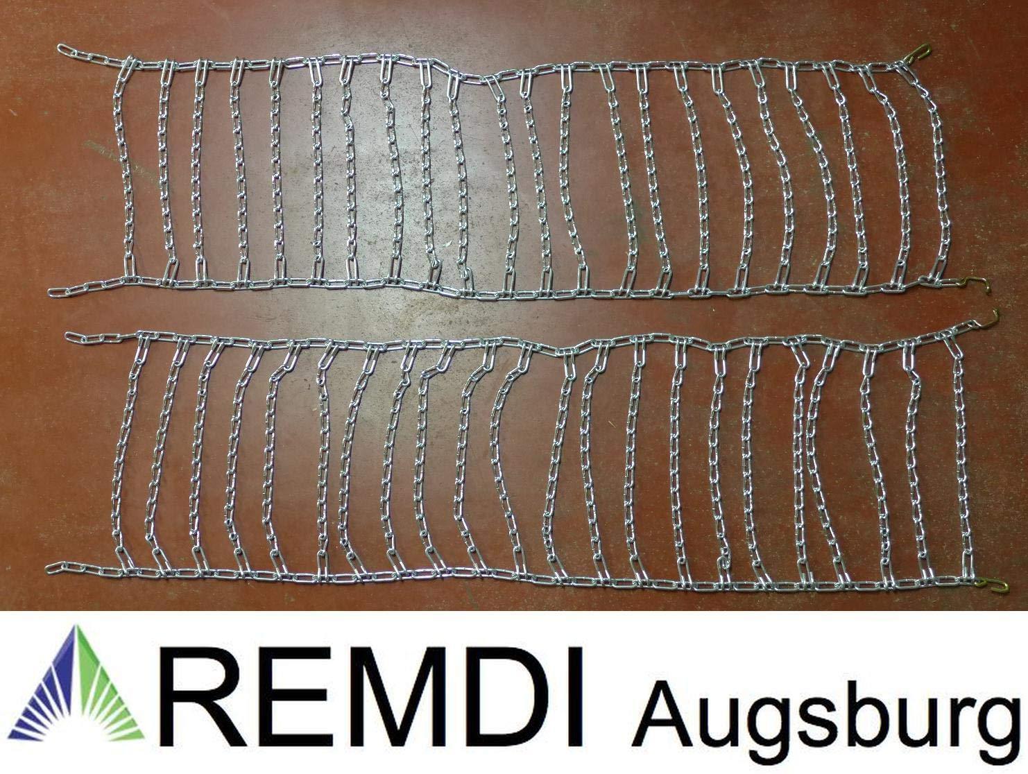 Remdi Augsburg Schneeketten 24x13.00-12 (24 x 13.00-12) Profi Ausführung Gliederstärke 4,5mm