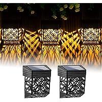 CONTECH Solar Fence Lights 2 Pack, Solar Decorative Outdoor Garden Lights, Waterproof Wireless Outdoor Lights for Garden…