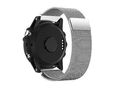 Garmin Fenix 3 reloj banda, topsic único imán cerradura Milanese Loop pulsera de repuesto de