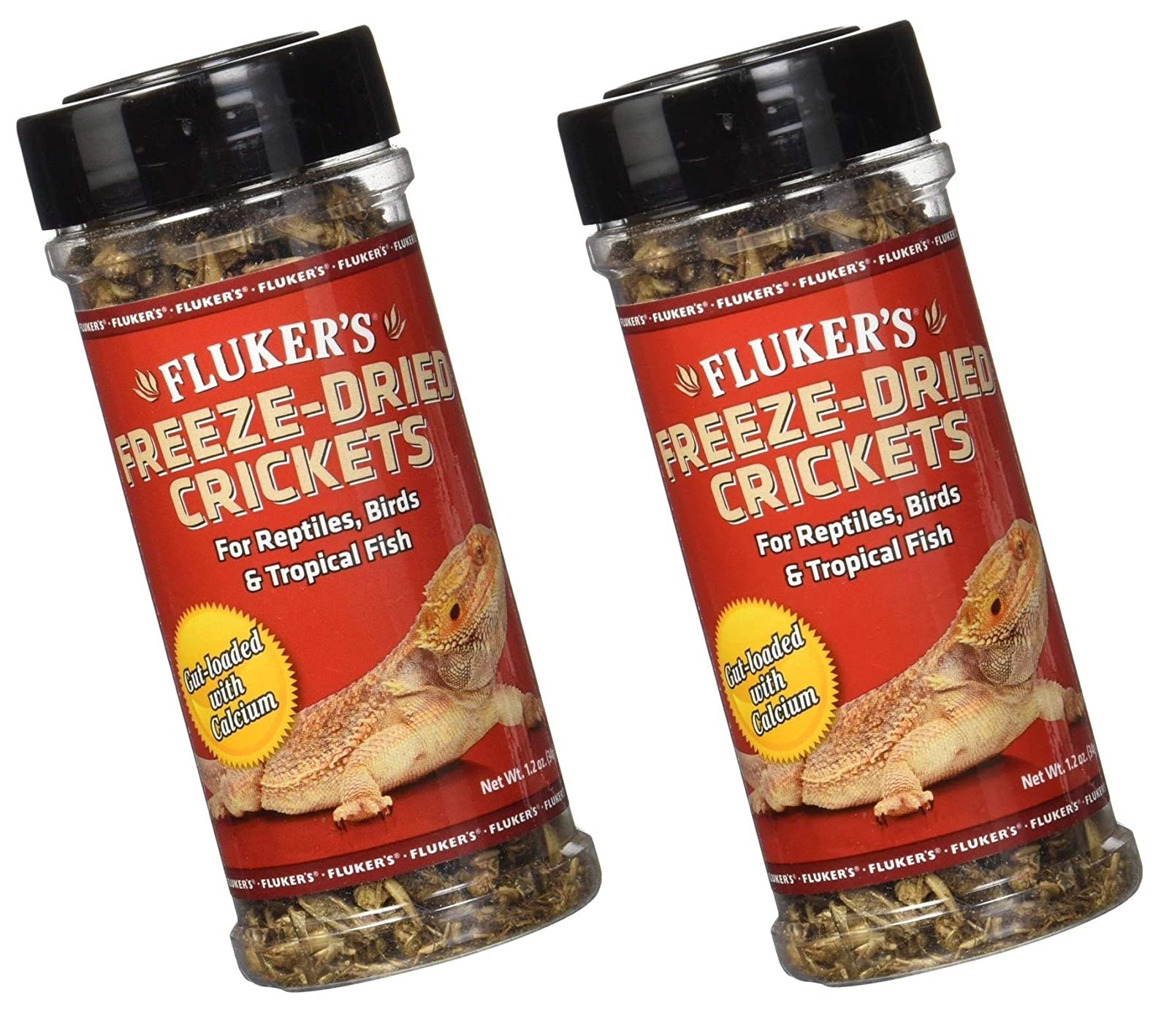 (2 Pack) Fluker's 1.2-Ounce Freeze Dried Crickets 2 Pack - 1