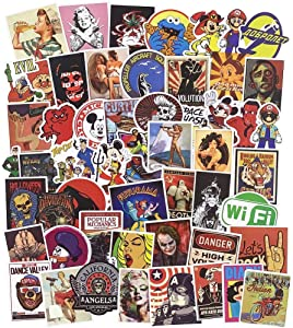 Retro Stickers for Laptops, 100 Pack Trendy Aesthetic Waterproof Vinyl Sticker Patches for Snowboard Bicycle Motorcycle Car Bumpers, Great Gift Choice for Kids Teens Boys Girls Toddler Adult Lover