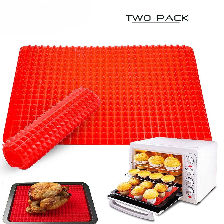 1 pics BingHang Silicone Baking Mat Pyramid Pan Baking Sheet Pastry Cooking Mat Oven Liner Tray