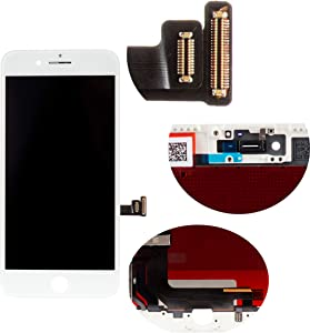 Front Glass LCD Screen Replacement Digitizer Assembly Frame Full Set Display Touchscreen for iPhone 7 Plus 5.5 Inches White