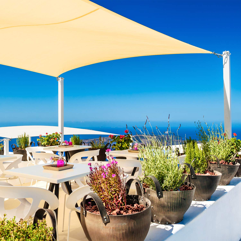 Couleur Gris Cool Area Voile dombrage imperm/éable rectangulaire 2 x 3 m/ètres pour Jardin /& terrasse