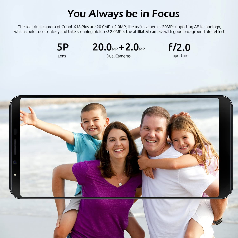 CUBOT X18 Plus Smartphone 4G Telefono Móvil con Pantalla de 5.99 ...