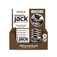 PhD Smart Jack, Protein and Oat Flapjack-Triple Chocolate, 60 g, Pack of 12