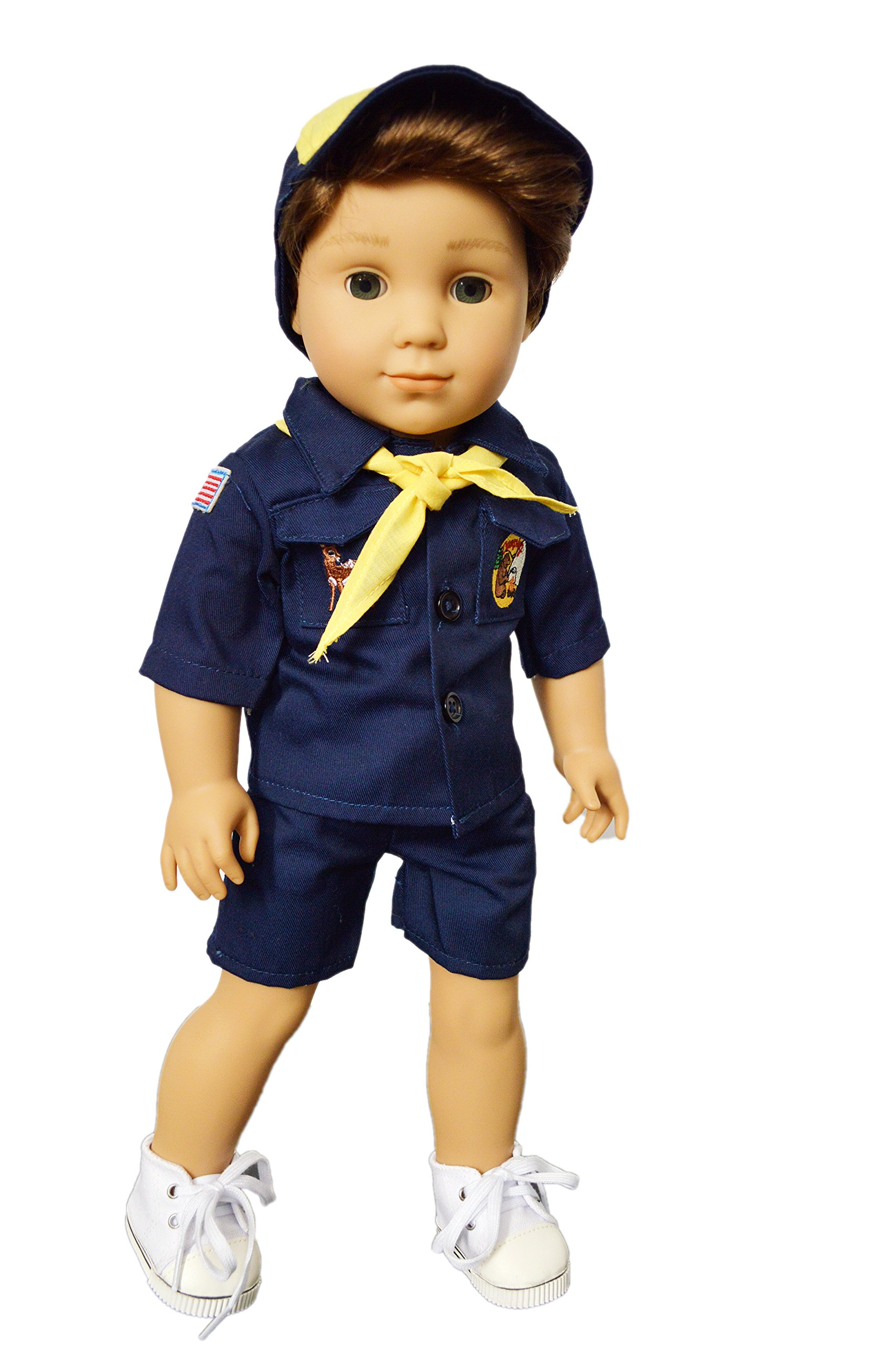 Brittany's My Cub Scouts Uniform with Embroidered Patches Compatible with American Girl Boy Dolls- 18 Inch Boy Doll Clothes by Brittany's