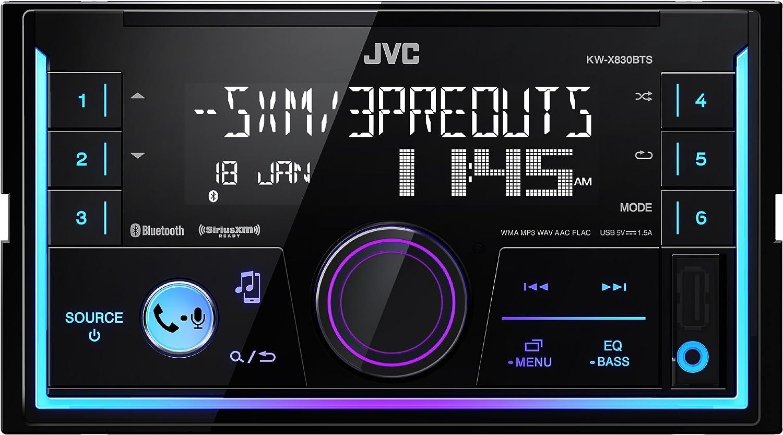 JVC 2-DIN Digital Media Receiver KW-X830BTS Renewed