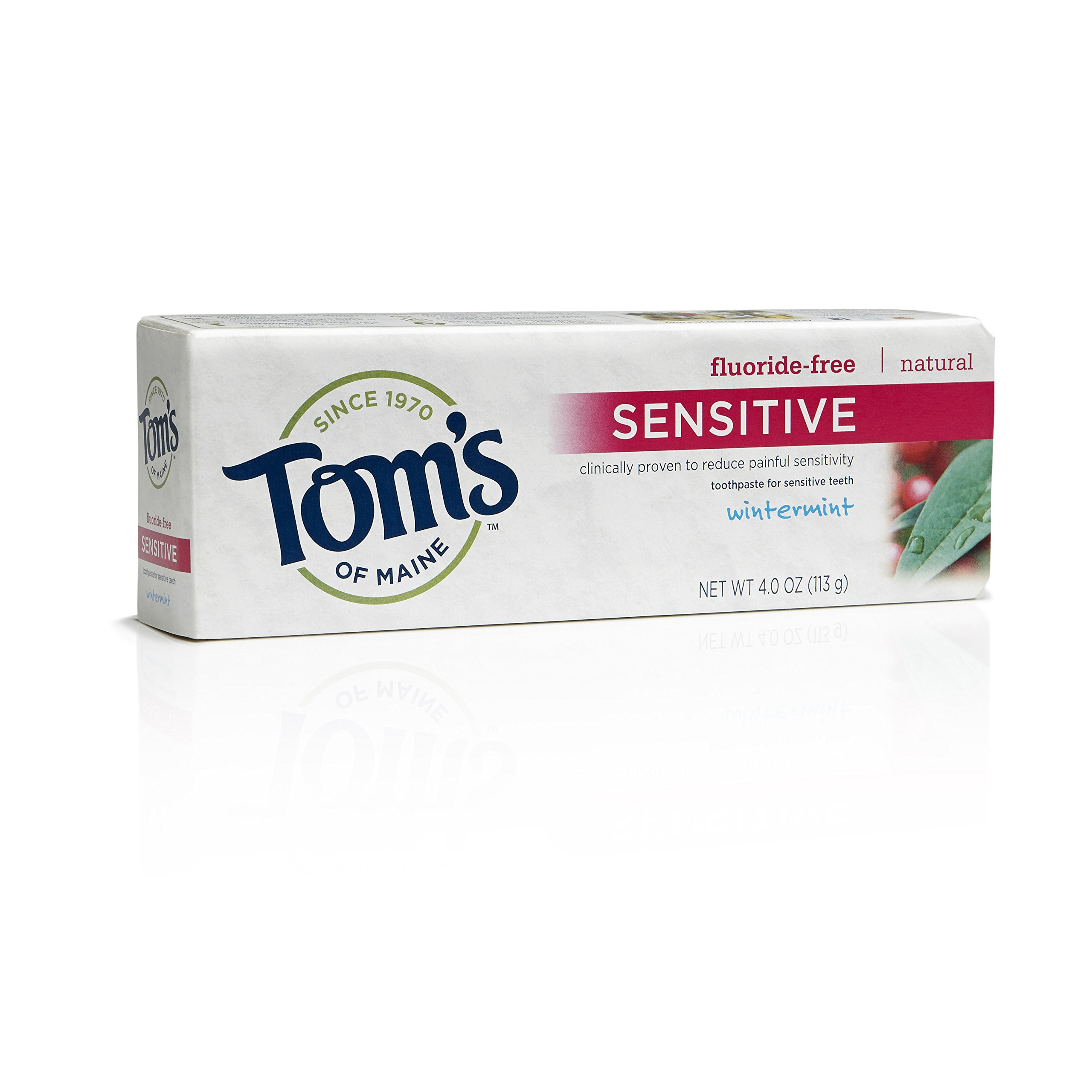 Tom's of Maine Natural Maximum Strength Sensitive Toothpaste, Wintermint, 4 Ounce, Pack of 24