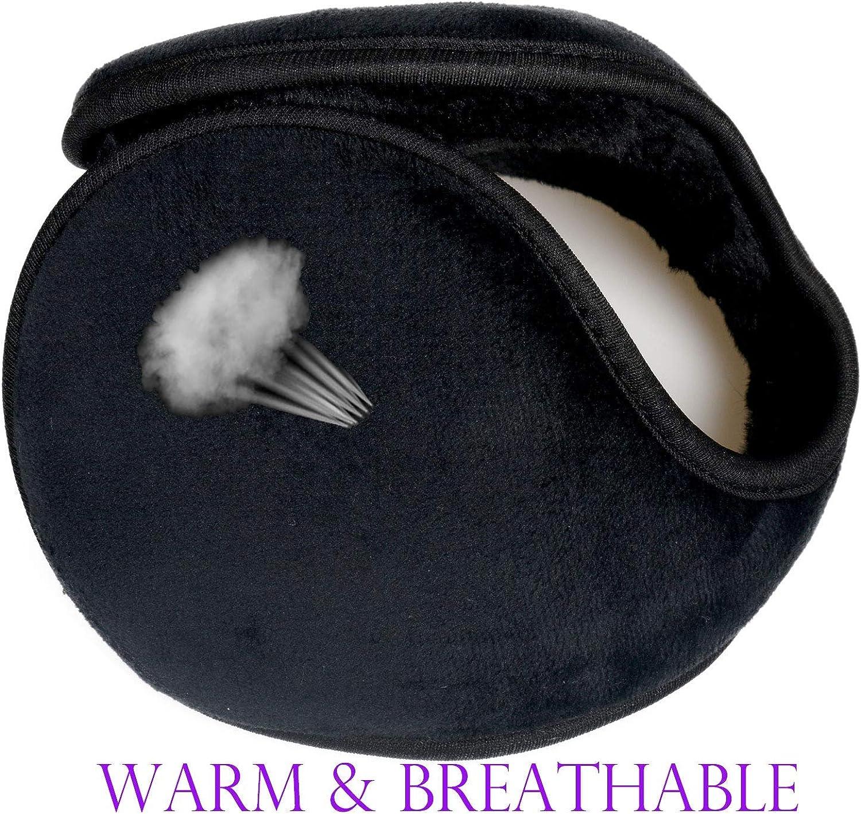 FIlYU Fleece Ear Warmers Winter Foldable Ear Muffs for Men /& Women Outdoor Ear Covers