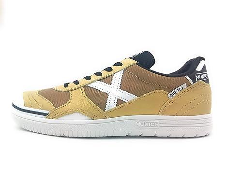 Zapatillas de fútbol Sala MUNICH GRESCA Dorado-Blanco (3000277)  Amazon.es   Zapatos y complementos 74a485b4c7f61