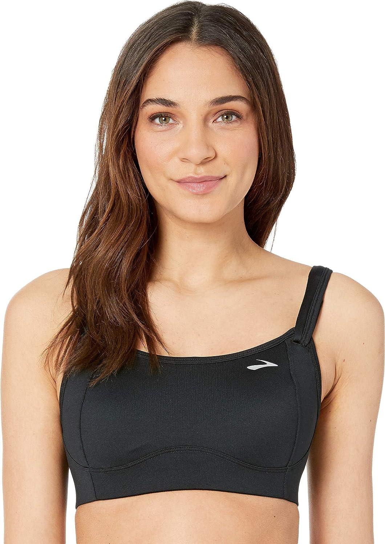 37d3314657ed6 Brooks Women s Fiona Medium-Impact Adjustable Sports Bra (B-DD ...