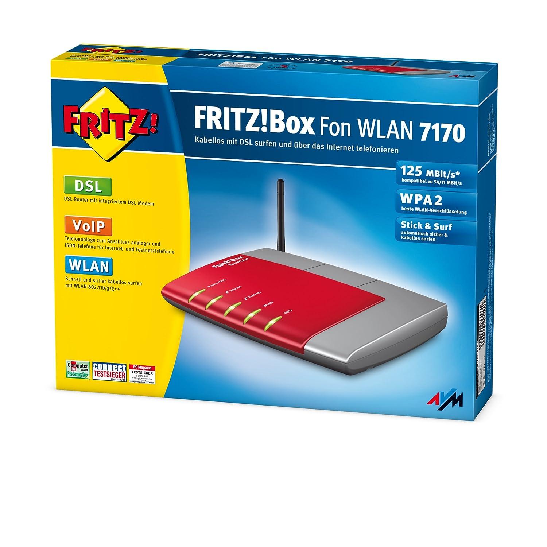 Amazon.com: AVM FRITZ!Box Fon WLAN 7170 - Wireless router - DSL ...