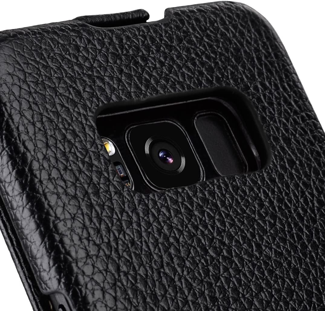 Melkco Samsung Galaxy S8 Plus Premium Leather Jacka Vertical Flip Protective Mobile Phone Case Cover for Samsung Galaxy S8 Plus Black LC