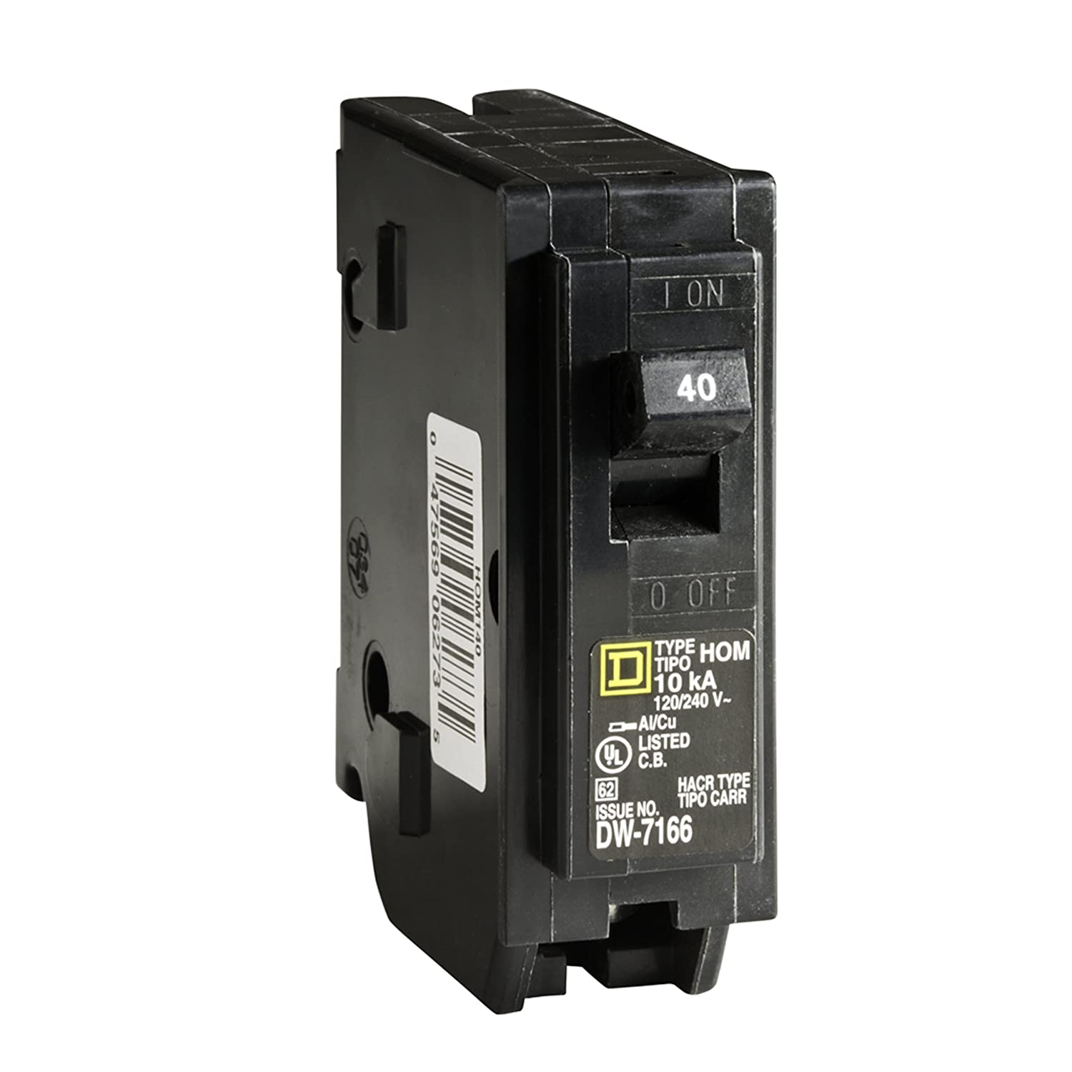 Square D by Schneider Electric HOM140CP Homeline 40 Amp Single-Pole Circuit Breaker