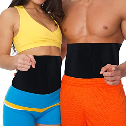 Amazon.com : MakExpress Waist Trimmer Ab Belt Tummy Tuck Belly Burner Sauna  Fit Trim Firm Curve Contour Weight Loss Abdominal Tone Muscle Toning Slim  Easy Strong Exercise for Women & Men Home