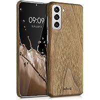 kalibri Skyddsfodral kompatibel med Samsung Galaxy S21 – fodral mobiltelefon trä – smalt fodral mobiltelefonfodral…