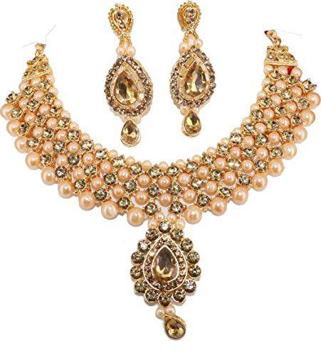 Buy Agrawalbangles White Brass Royal Rajputi Aad With Earrings For