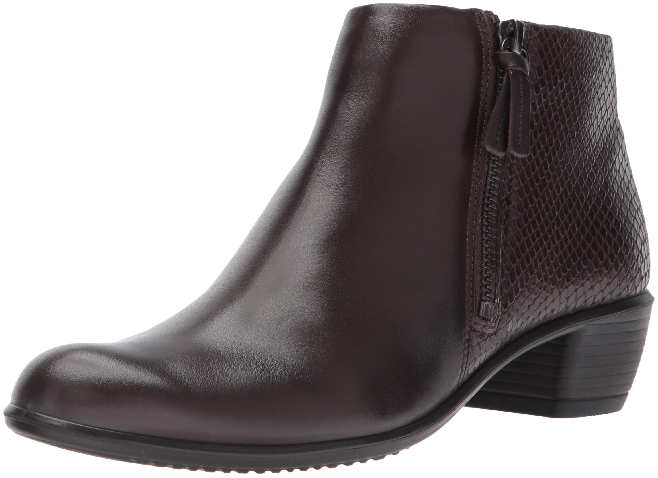 ECCO Women's Women's Touch 35 Ankle Bootie, Coffee/Coffee, 38 EU/7-7.5 US