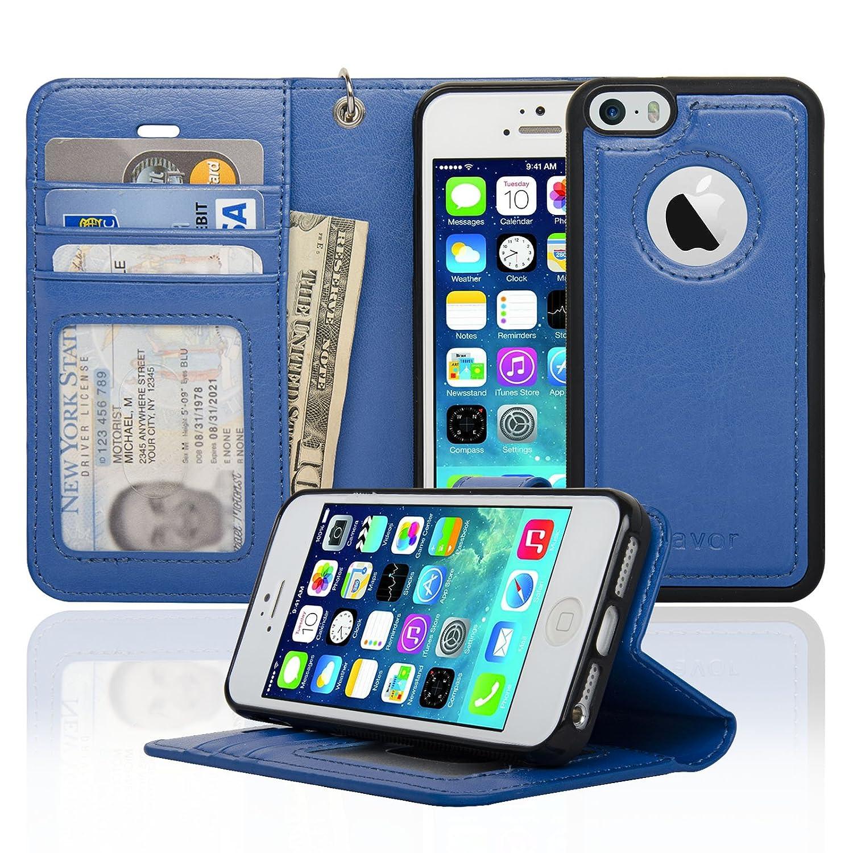 Navor iPhone 7 Plus 8 Plus Case Auto Align Detachable Ultra Strong Magnetic Wallet Case [RFID Theft Protection] JOOT-1L Series - Black (IP7P1LBK) FBA_IP7PJT-BK