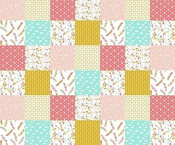 Amazon.com: Cheater Quilt Fabric - Cheater Quilt Squares ... : photo quilt fabric - Adamdwight.com