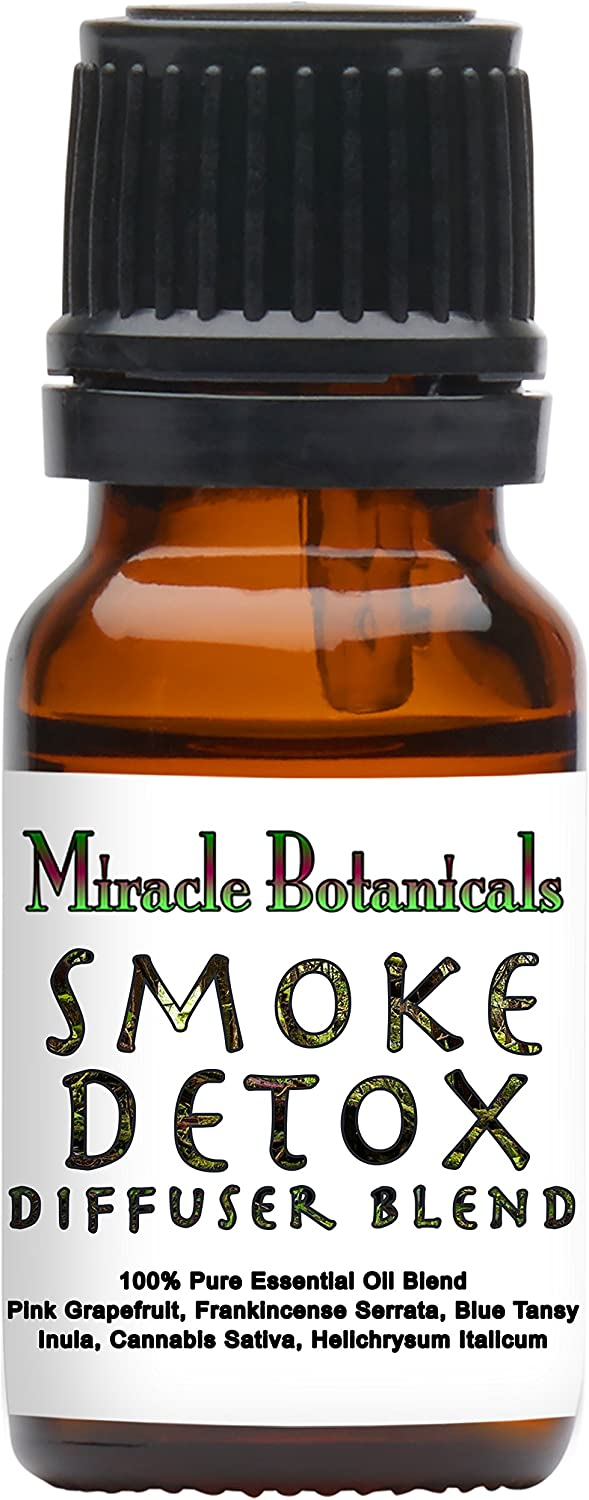 Miracle Botanicals Smoke Detox Blend - 100% Pure Essential Oil Blend - Therapeutic Grade.10ml