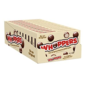 WHOPPERS Chocolate Malted Milk Balls Candy, 5 Ounce (Pack of 12)