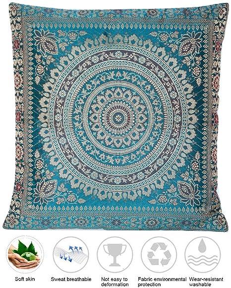 Funda de almohada de seda turquesa de Ruwado | Funda de ...