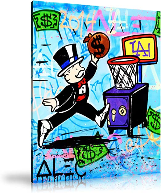 Alec Monopoly HD Print Oil Painting Home Decor Art on Canvas New York Unframed