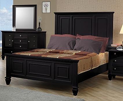 Amazon.com: Sandy Beach Black Queen Four-Piece Bedroom Set ...