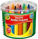 Crayola My First Easy Grip Jumbo Crayons designed for Toddlers, Pack of 24