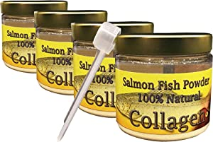 Salcoll Collagen - 100% Natural Bioactive Marine Collagen Powder - Unflavored, Kosher, can Help Bone, Joint, Skin, Hair Health, 4 Pack, Four Month Supply