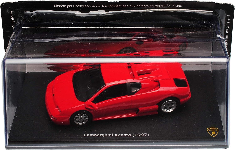 Atlas Lamborgihini Acosta Concept Diablo Coupe Rot 1997 1//43 Modell Auto mit individiuellem Wunschkennzeichen
