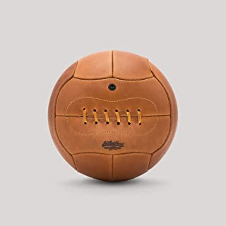 product image for Leatherhead Sports Vintage Leather Soccer Ball – Replica of 1930 Coupe du Monde Ball. 12-Panels, Rawhide Lace, Rubber Bladder. Made from the finest leather by Master Craftsmen in Glen Rock, New Jersey
