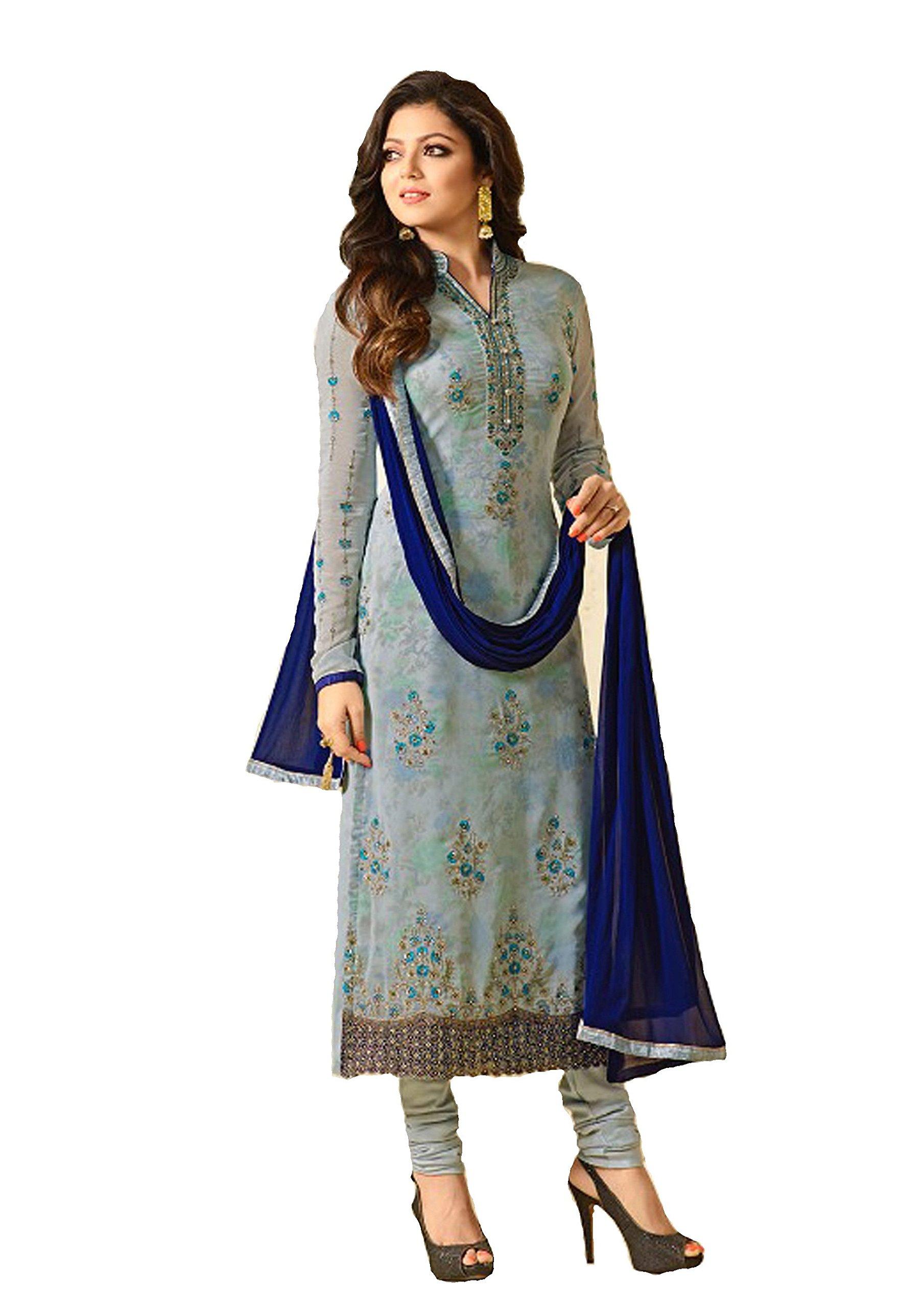 ziya Fashionable Designer Straight Salwar Kameez LT Nitya 2201-2208 (Grey, XXL-46)