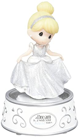 Precious Moments Disney Showcase Collection A Dream is A Wish Your Heart Makes Music Box Rotating Resin 163101