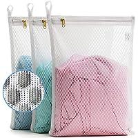 TENRAI 3 Pack (3 S) Delicates Laundry Bags, Socks Fine Mesh Wash Bag for Underwear, Lingerie, Bra, Boxer, Use YKK Zipper…